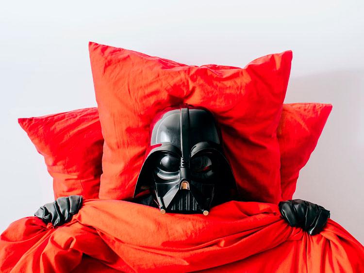 Darth Vader en cama