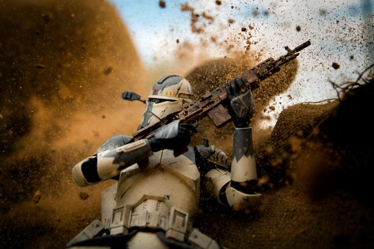 Soldado Star Wars disparando