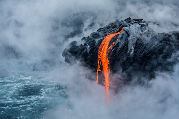 Erupción de un volcán