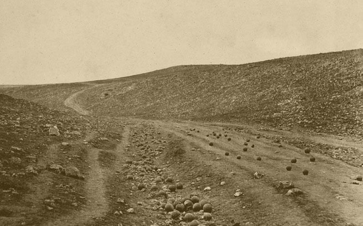 Fotografía de la Guerra de Crimea, campo de batalla