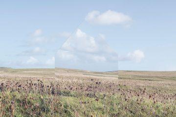 Espejo sobre paisaje