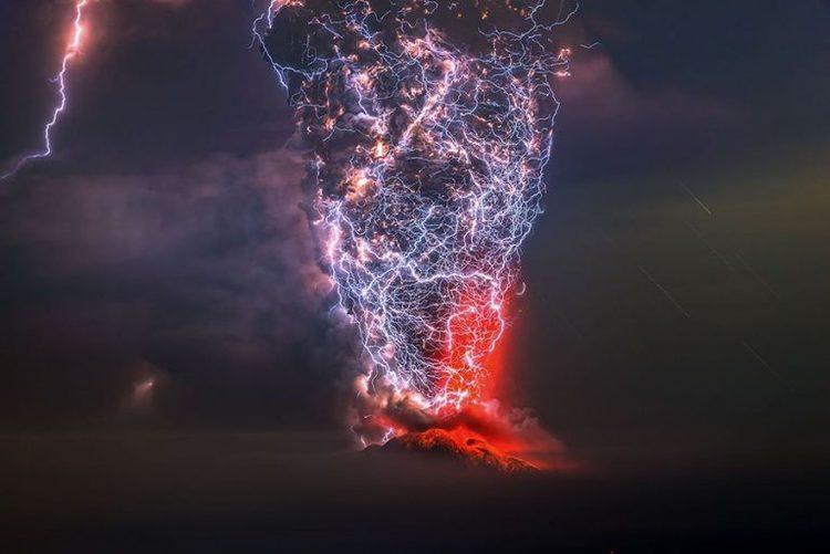 Fotografía de tormenta eléctrica